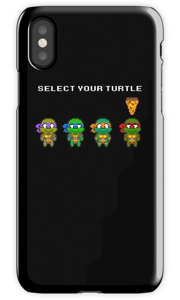 "Favori Select Your Turtle (Raphael) - TMNT Pixel Art"" iPhone Cases  JQ24"