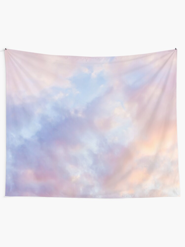 Alternate view of Pink sky Tapestry