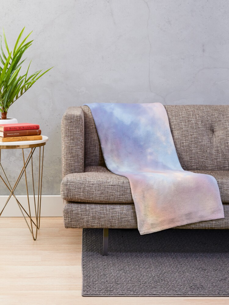Alternate view of Pink sky Throw Blanket