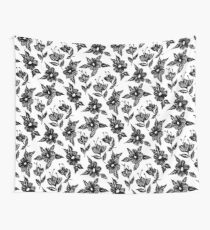 Flowers embroidery Wall Tapestry