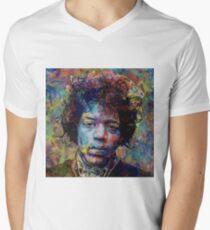 Jimi Acrylic Style Art Men's V-Neck T-Shirt