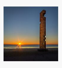 The monument and the sunrise Photographic Print