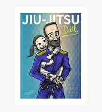 Jiu-Jitsu Dad Art Print