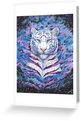 Fading white galaxy tiger greeting cards by schiraki redbubble fading white galaxy tiger by schiraki m4hsunfo