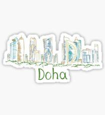 Doha Panorama Sticker