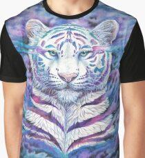 fading - white galaxy tiger Grafik T-Shirt