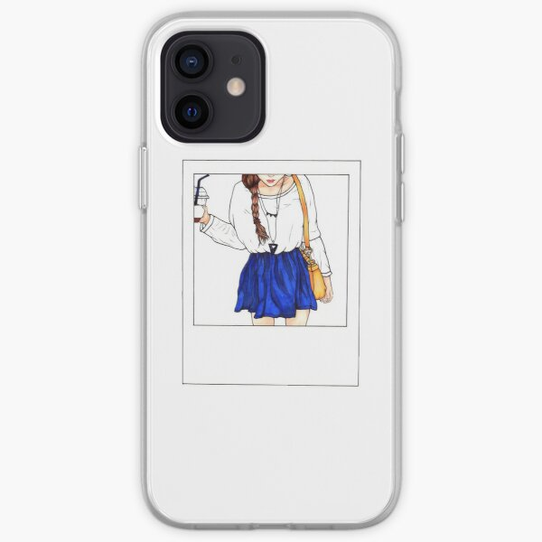Polaroid Tumblr Fashion Girl - ArtsyFeebs Funda blanda para iPhone