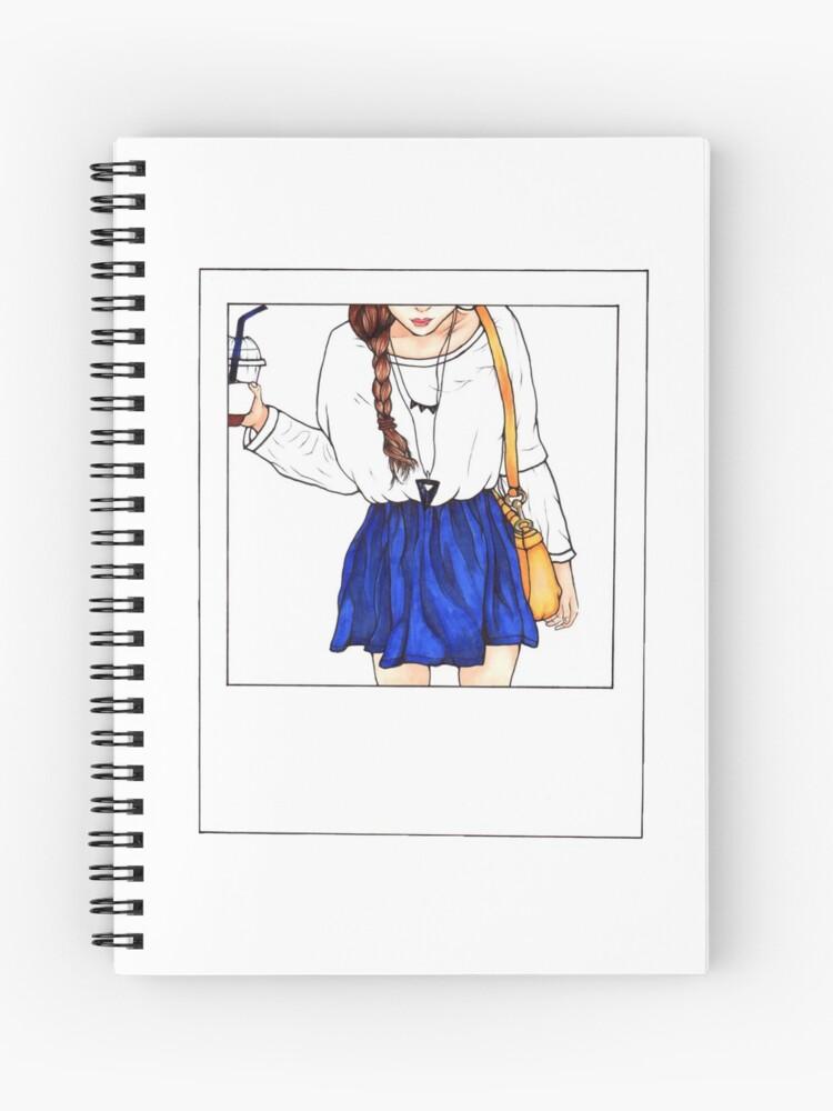 Polaroid Tumblr Fashion Girl Artsyfeebs Spiral Notebook