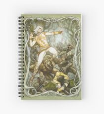 Elves & Orcs, the Battle Under the Trees Spiral Notebook