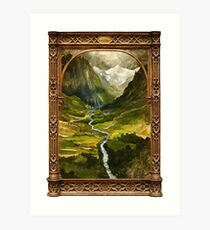 The Ring is taken to Rivendell Art Print