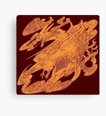 Fire Monster Dragon - PK Charizard Canvas Print