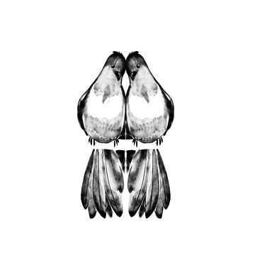 Lovebirds in unison by symme3