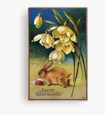 Easter Wishes, vintage design Canvas Print