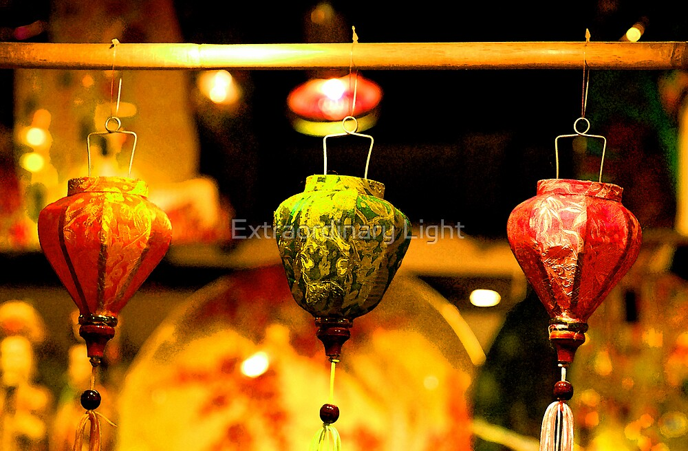 Gold Leaf Chinese Lanterns by Extraordinary Light