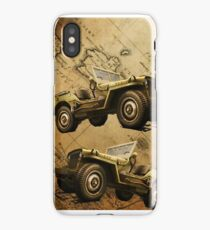 VINTAGE MILITARY JEEP  iPhone Case/Skin