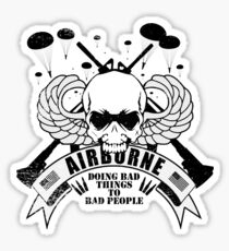 Airborne - Doing Bad Things To Bad People Sticker