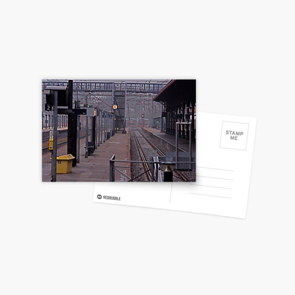 Helsingor Railway Station, Denmark. Postcard