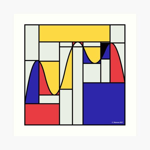 Riemondrian - Mathematical Art based on the work of Piet Mondrian Art Print