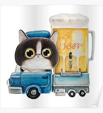 kitty beer truck Poster