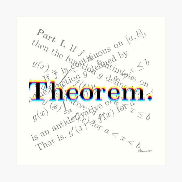 Theorem. Art Print