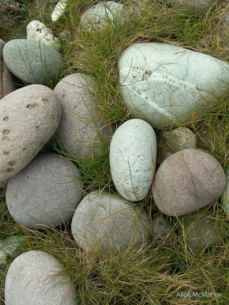 Stones on Achill Island, Mayo Ireland by Alice McMahon