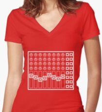 8channel Women's Fitted V-Neck T-Shirt