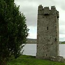 Grace O'Malley's Tower with Yew Tree by Alice McMahon