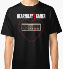 Heartbeat of Gamer Funny Gaming Video Game Gift T-Shirt Classic T-Shirt