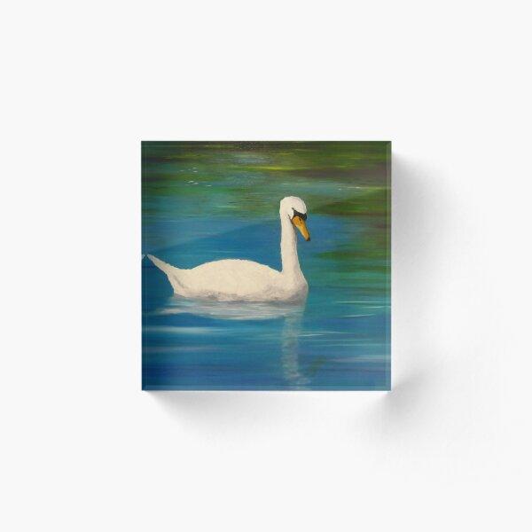 Swans Acrylic Block