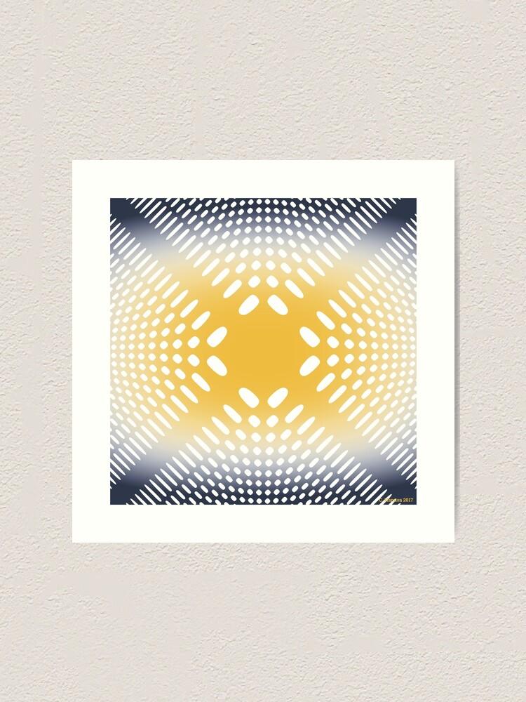 Alternate view of Holey Pattern - Mathematical Image Art Print