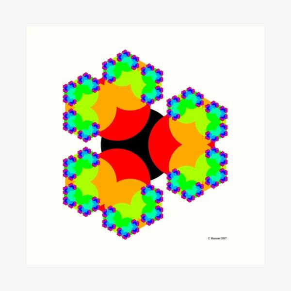 Tri-Circle Fractal Art Art Print