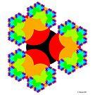 Tri-Circle Fractal Art by Christopher Hanusa
