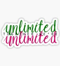 Together we're unlimited Sticker
