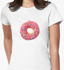 Pink Donut Women's Fitted T-Shirt