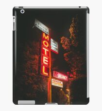 Town Center Motel Sign at Night iPad Case/Skin