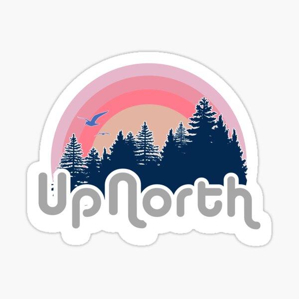 Retro Up North Sticker