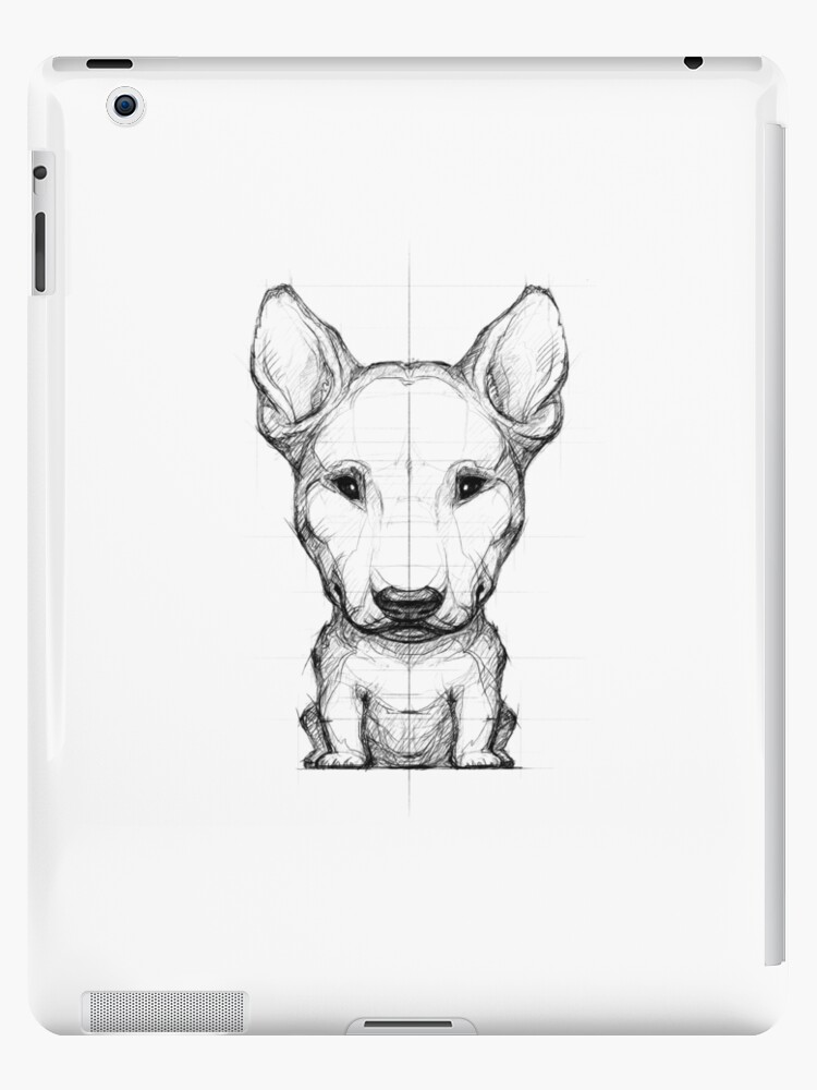 Bull Terrier Pencil Drawing Ipad Cases Skins By Bullterrier