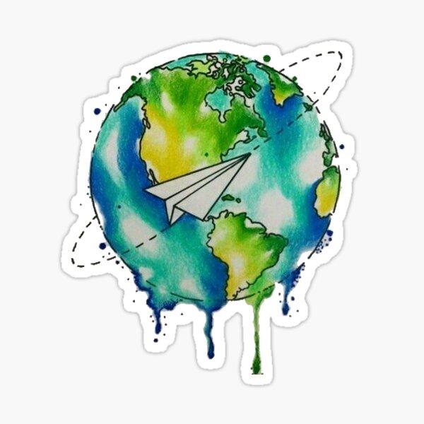 colorful earth Sticker