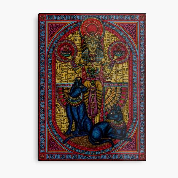 bastet, bast the cat goddess Metal Print