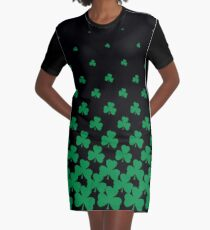 Irish Shamrock Art Graphic T-Shirt Dress