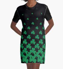 Irish Shamrock Art Graphic T-Shirt Dress