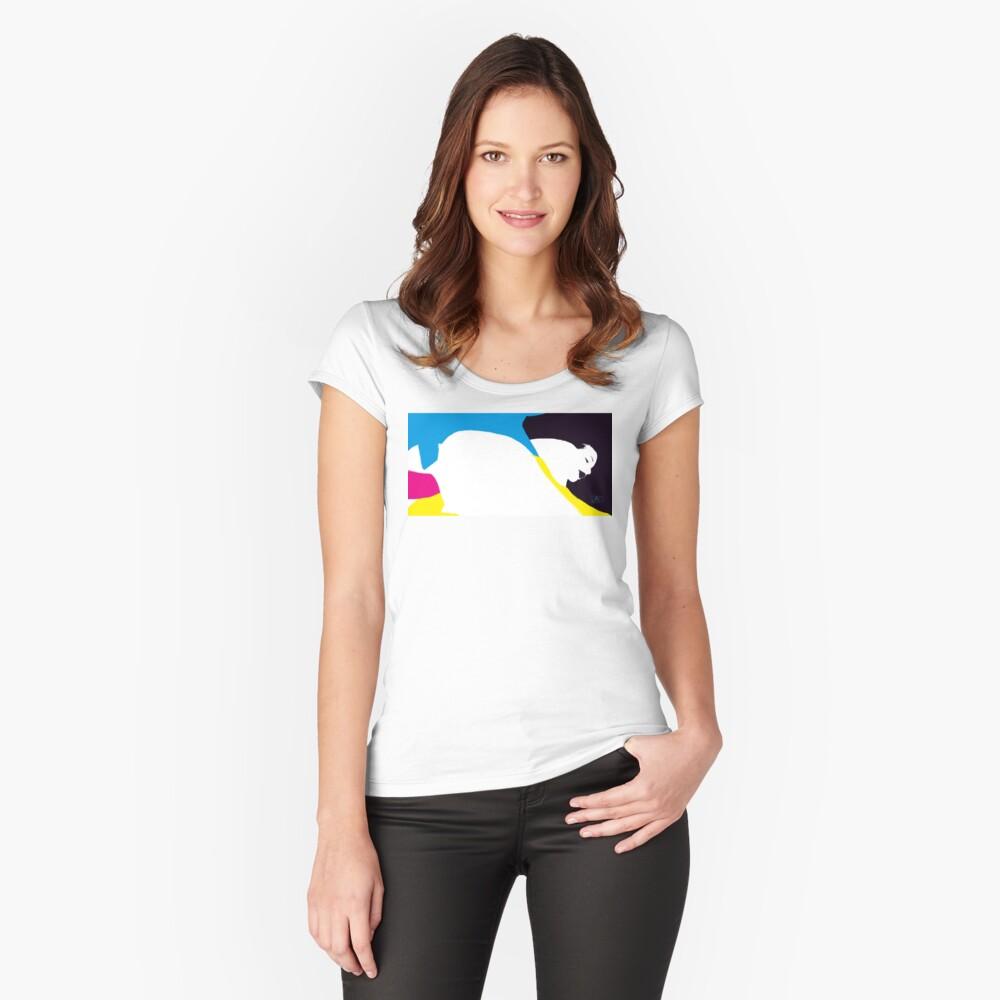 quadricromia quattro Women's Fitted Scoop T-Shirt Front