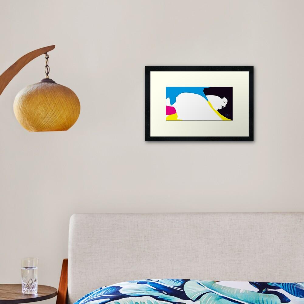 quadricromia quattro Framed Art Print