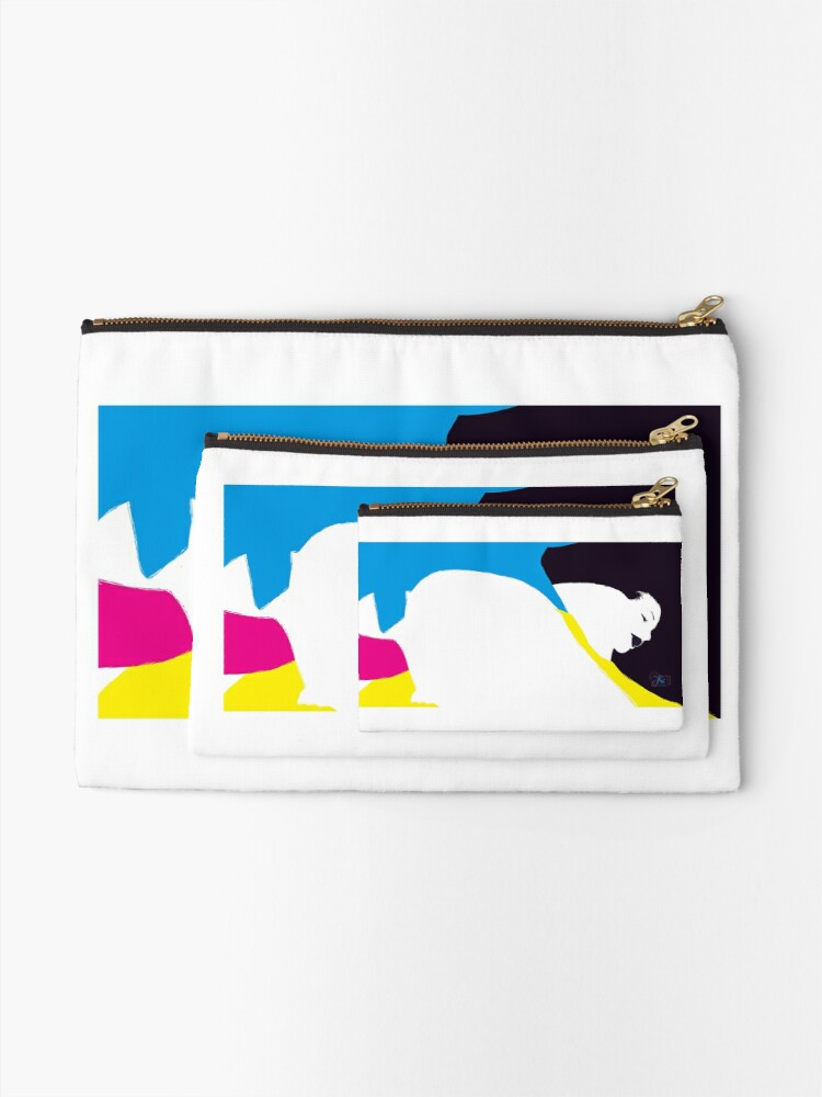 Alternate view of quadricromia quattro Zipper Pouch