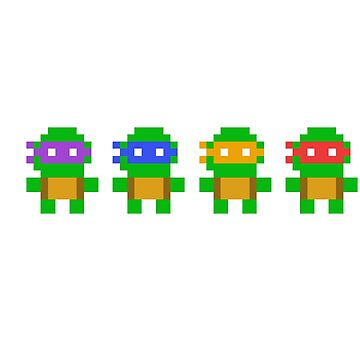 TMNT 8-Bit by CasualBiscuits