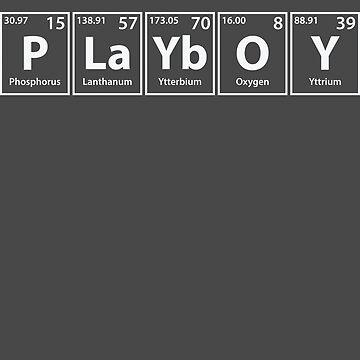 Playboy (P-La-Yb-O-Y) Periodic Elements Spelling by cerebrands