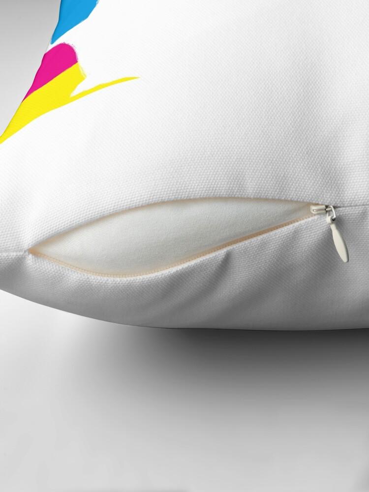 Alternate view of quadricromia quattro Throw Pillow