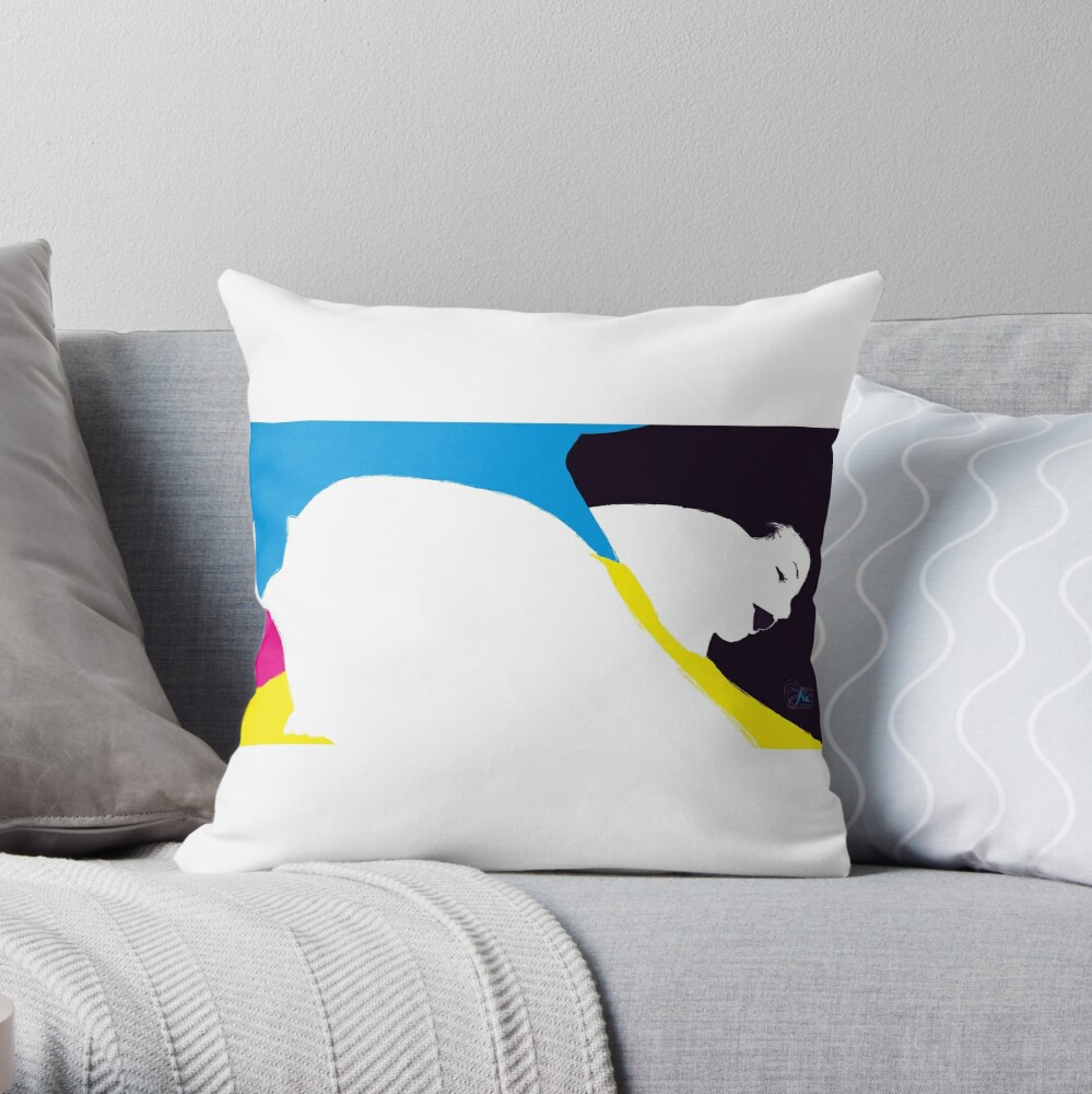 quadricromia quattro Throw Pillow