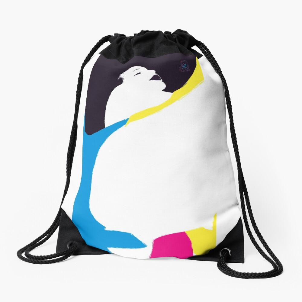 quadricromia quattro Drawstring Bag