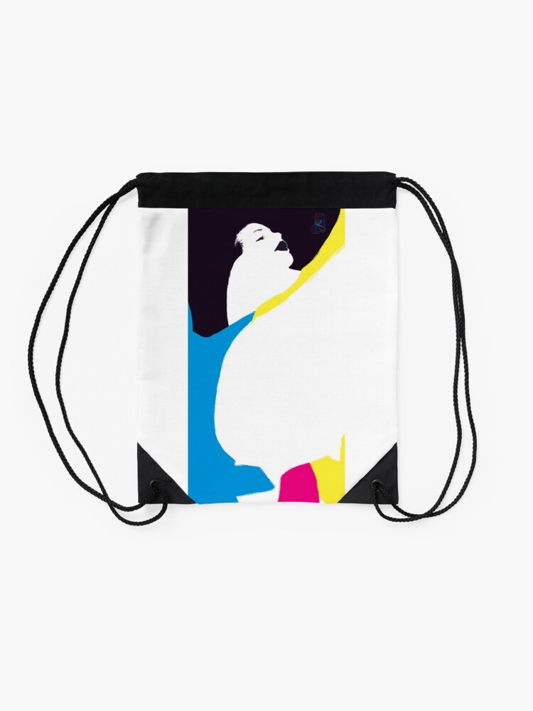 Alternate view of quadricromia quattro Drawstring Bag